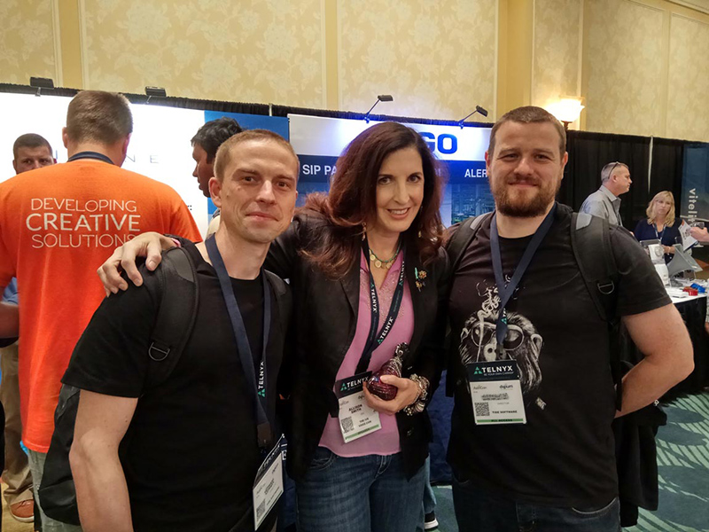 Photo of Tide Software employees with Alison Smith